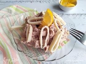 Кальмары в хлебно-ореховом соусе