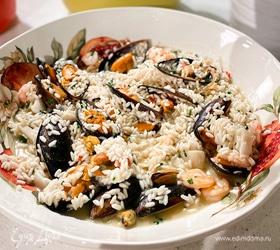 Ризотто с морепродуктами и белым вином