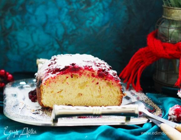 Дрожжевой пирог с брусникой на пушистом тесте