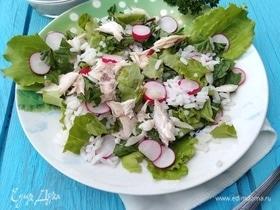 Рисовый салат с рыбой