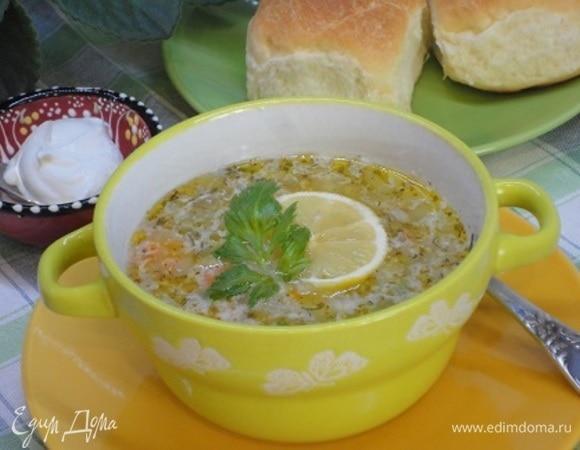 Рисовый суп с кунжутом