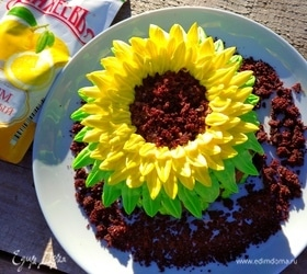 Мини-тортик «Подсолнух» с лимонным джемом