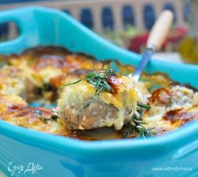 Рыбные полпетте со шпинатом в сливочно-сырном соусе