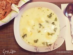Вкусный суп с сырными шариками