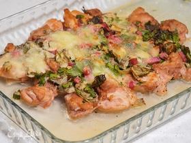 Запеченное куриное филе с артишоками и моцареллой