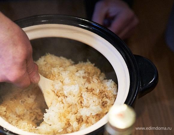 Рис по-японски в донабэ