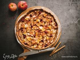 Ржаная галета с яблоками и клюквой