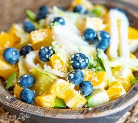 Салат с кальмарами и апельсинами
