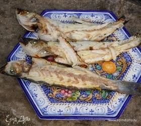 Сибас в имбирно-йогуртовом маринаде, жаренный на гриле