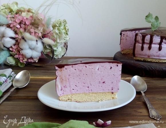Ягодный торт «Птичье молоко»