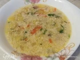 Яично-куриный суп