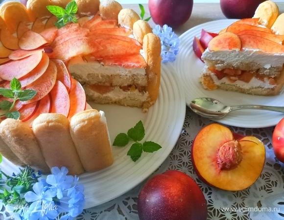 Торт-шарлотка «Нектарин»