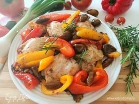 Куриные бедра с болгарским перцем