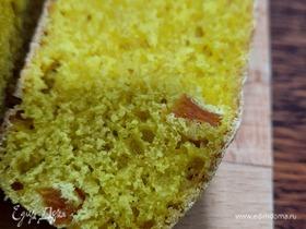 Домашний кукурузный хлеб с курагой