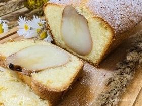 Бисквитный пирог с грушей