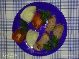Рулетики из мяса с овощами