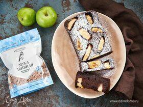 Шоколадный кекс с яблоком