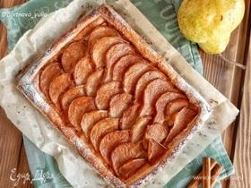Слоеный пирог с грушей