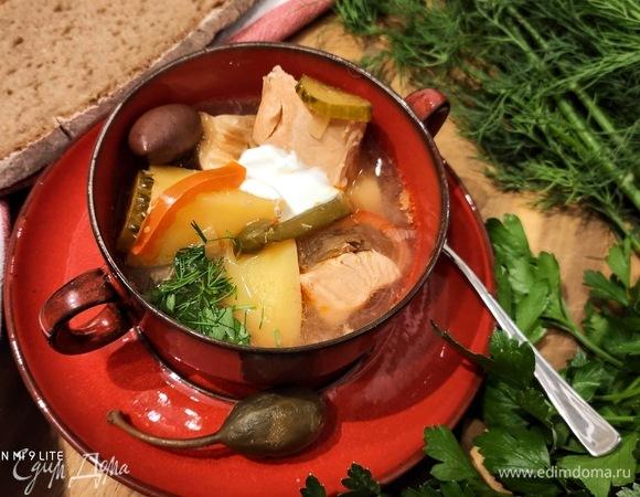Рыбный суп по мотивам солянки