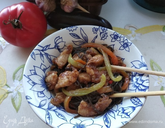 Курица стир-фрай в кисло-сладком соусе