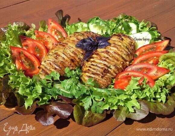 «Картошка-гармошка» с беконом
