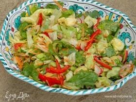 Салат с азиатской заправкой