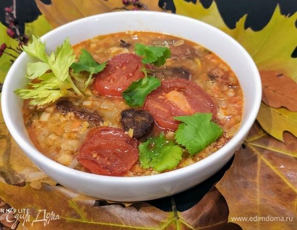 Чечевичный суп с чоризо