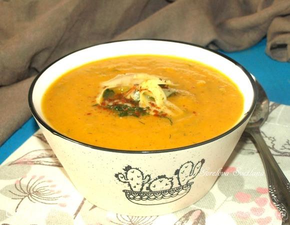 Суп-пюре из батата с сыром