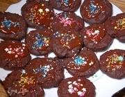 Печенье с глазурью из горького шоколада