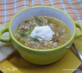 Перловый суп с грибами