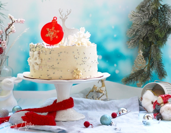 Миндальный торт «Пряная брусника»