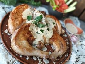 Новогодний цыпленок в «снежном» соусе
