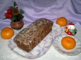 Творожный кекс с орехами, сухофруктами и мандаринами