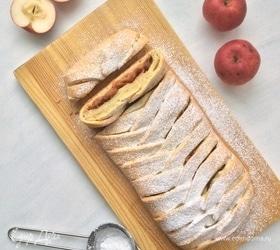 Творожная плетенка с яблочной начинкой