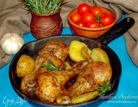 Куриные голени, запеченные с розмарином