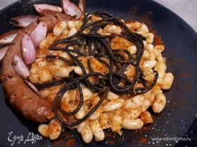 Чилийская похлебка из фасоли (Porotos con riendas)