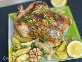 Запеченная курица в «зеленом» масле
