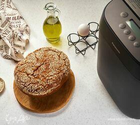 Рисово-гречневый хлеб с кунжутом без глютена