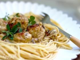 Польпетты с сырно-грибным соусом