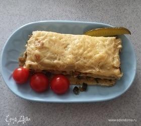 Лазанья с начинкой из тушеных овощей
