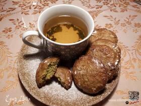Амаретти из юдзу и чая матча