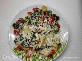 Цветная капуста со шпинатом