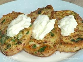 Французские тосты с зеленью и греческим йогуртом