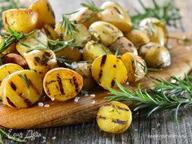 Молодая картошка на сковороде-гриль
