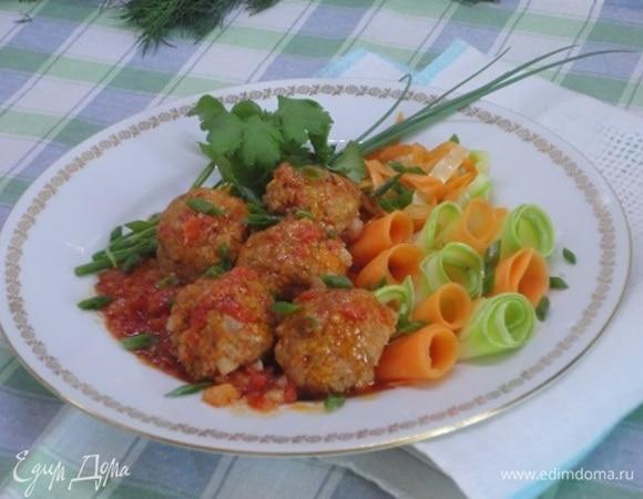Фрикадельки с овощной «пастой»