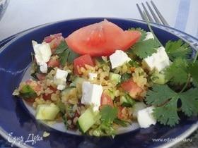 Теплый салат из булгура