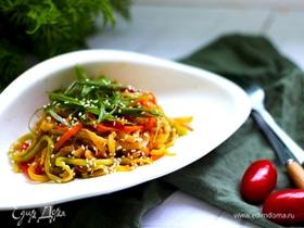 «Спагетти» из кабачков и моркови