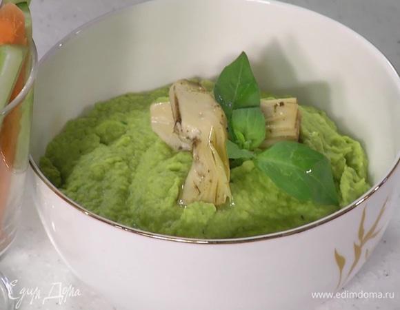 Хумус со шпинатом и артишоками