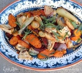 Овощное ассорти с тимьяном и розмарином