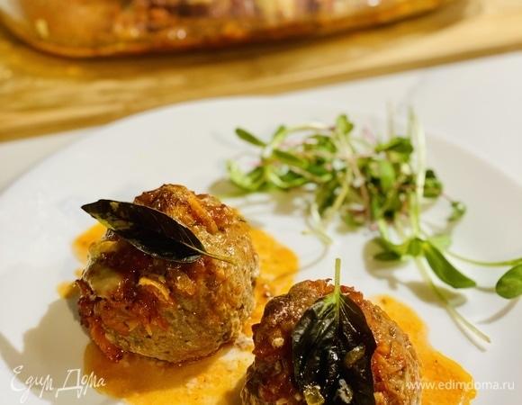 «Ежики» в томатном соусе с итальянскими травами